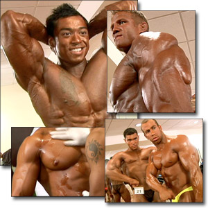 2005 Musclemania Superbody Championships Men's Pump Room Part 2