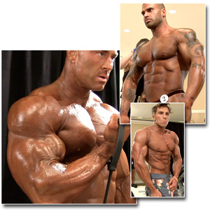 2013 IFBB PBW Pro Championships Men's Pump Room Part 1