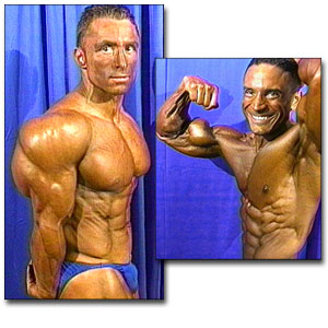 1998 NPC Nationals Men's Backstage Posing Part 1