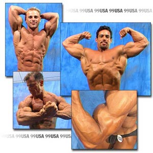 1999 NPC USA Men's Backstage Posing Part 1