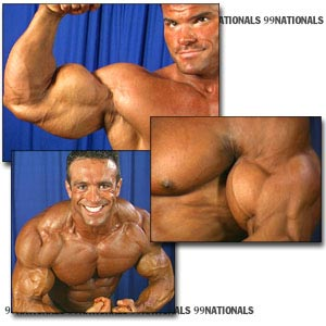 1999 NPC Nationals Men's Backstage Posing Part 2
