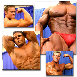 2000 NPC Junior Nationals Men's Backstage Posing Posing Part 2