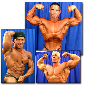2000 NPC USA Men's Backstage Posing Part 1