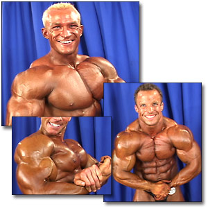 2002 NPC USA Men's Backstage Posing Part 2