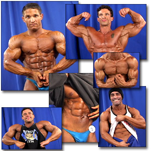 2002 NPC Nationals Men's Backstage Posing Part 1