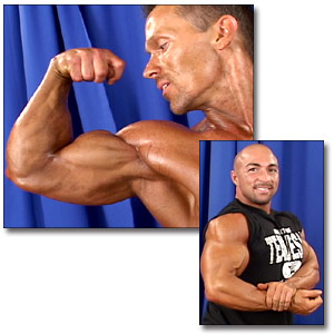 2003 NPC USA Championships Men's Backstage Posing Part 1