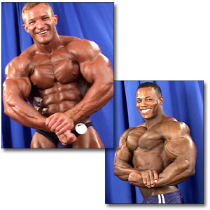 2003 NPC USA Championships Men's Backstage Posing Part 2