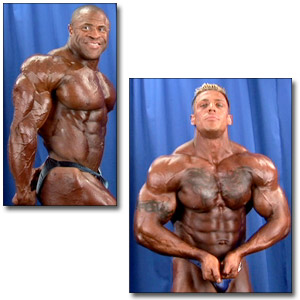 2005 NPC National Bodybuilding Championships Men's Backstage Posing Part 3