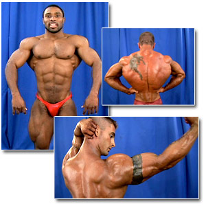 2006 NPC National Bodybuilding Championships Men's Backstage Posing Part 1
