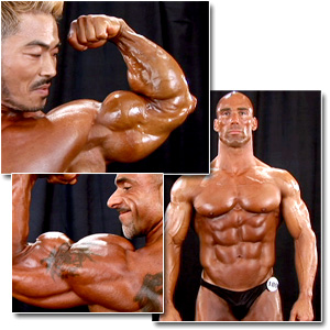 2008 NPC Masters National Championships Men's Backstage Posing Part 3