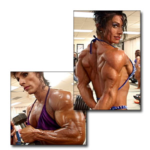 2003 NPC USA Women's Bodybuilding Pump Room