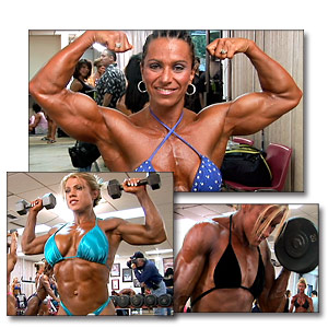 2005 NPC USA Women's Bodybuilding Pump Room