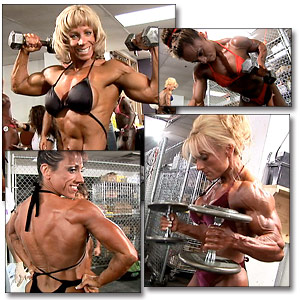 2005 NPC National Women's Bodybuilding Pump Room Part 1