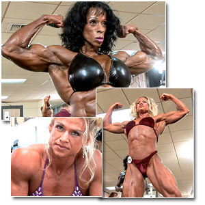 2006 NPC USA Bodybuilding Championships Women's Pump Room Part One