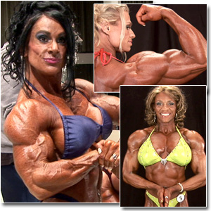 2011 IFBB PBW Championships Women's Bodybuilding Backstage Posing & Pump Room