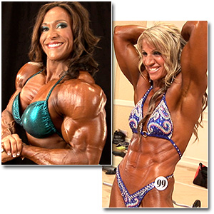 2012 IFBB PBW Tampa Pro Women's Backstage Pump Room