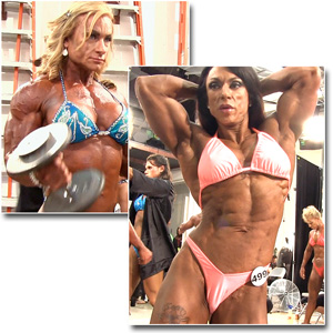 2013 NPC National Championships Women's Bodybuilding Pump Room