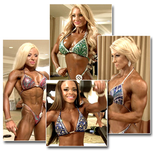 2014 IFBB PBW Tampa Pro Women's Figure Pump Room
