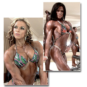 2014 IFBB PBW Tampa Pro Women's Physique Pump Room Part 2