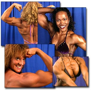 2000 NPC Junior USA Women's Backstage Posing
