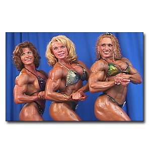2001 NPC Nationals Women's Bodybuilding Backstage Posing