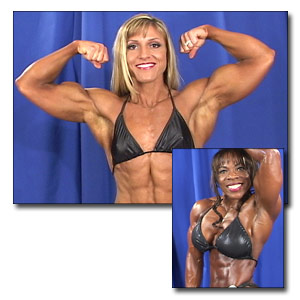 2002 NPC Nationals Women's Bodybuilding Backstage Posing