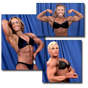 2003 NPC Junior Nationals Women's Bodybuilding Backstage Posing
