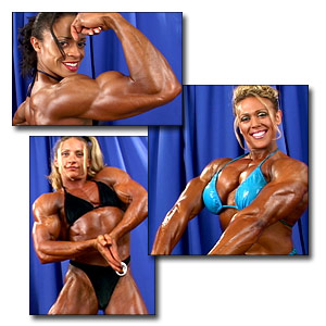 2003 NPC USA Women's Bodybuilding Backstage Posing