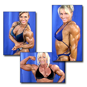 2003 NPC National Women's Bodybuilding Backstage Posing