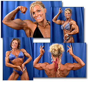2005 NPC USA Women's Bodybuilding Backstage Posing