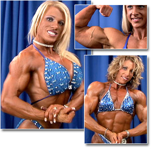 2006 NPC Junior National Bodybuilding Championships Women's Backstage Posing
