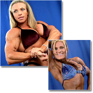 2006 NPC National Bodybuilding Championships Women's Backstage Posing