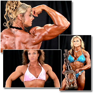 2007 NPC USA Bodybuilding Championships Women's Backstage Posing