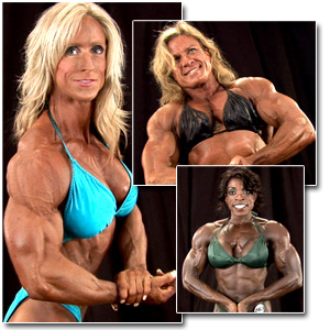 2011 NPC Masters Nationals Women's Bodybuilding Backstage Posing