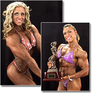 2012 NPC Nationals Women's Bodybuilding & Physique Backstage Posing Part 1