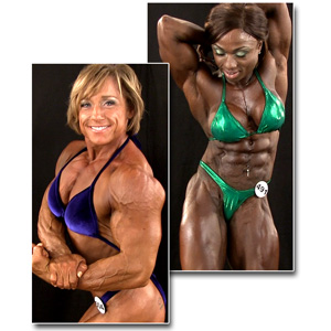 2013 NPC National Championships Women's Bodybuilding Backstage Posing