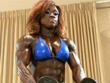 2015 IFBB PBW Tampa Pro Women's Bodybuilding Pump Room Part 2