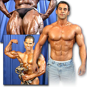 2000 NPC Nationals Men's Backstage Posing Part 1