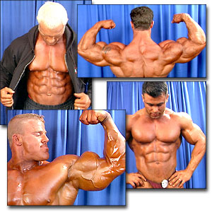 2000 NPC Nationals Men's Backstage Posing Part 3