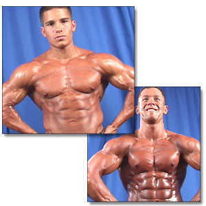 2001 NPC Teen/Collegiate Nationals Men's Backstage Posing Part 1