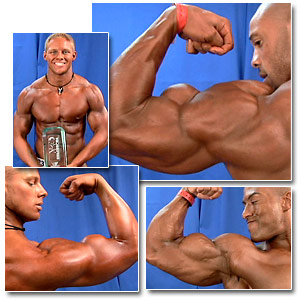 2006 Musclemania Superbody Men's Backstage Posing Part 1