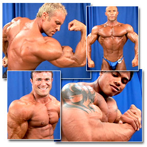 2006 NPC USA Bodybuilding Championships Men's Backstage Posing Part 2