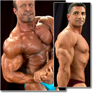 2011 NPC Masters Nationals Men's Backstage Posing Part 1 (Over 50/60/70)