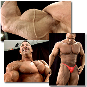 2012 NPC Masters Nationals Men's Backstage Posing (Over 40 - Part 2)
