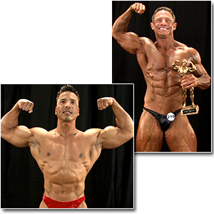 2013 NPC Masters Nationals Men's Backstage Posing (Over 40 Pt. 1)