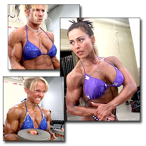 2003 NPC Junior USA Women's Backstage Posing & Pump Room