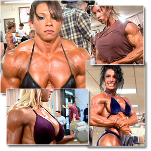 2006 NPC USA Bodybuilding Championships Women's Pump Room Part Two