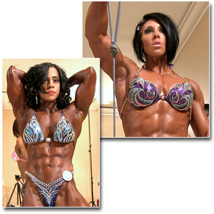 2013 IFBB PBW Pro Championships Women's Physique Pump Room