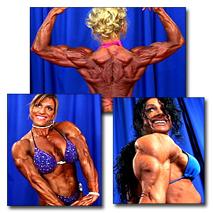 2004 NPC National Championships Women's Bodybuilding Backstage Posing