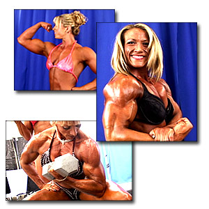 2005 NPC Junior USA Women's Bodybuilding Backstage Posing and Pump Room